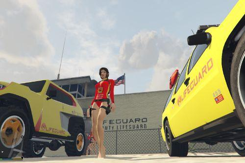 Lifeguard Outfit for Lara Croft