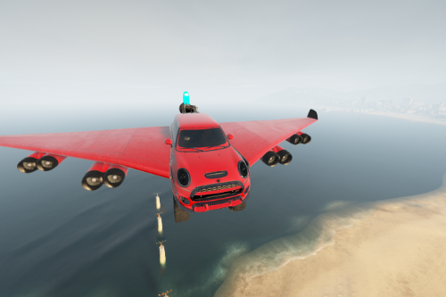 Lifted Mini Cooper Rocket Plane Car [Add-On / Replace | FiveM]