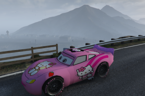 Lightning McQueen Pink Hello Kitty Skin