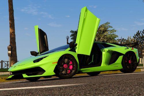 Lights & Leather | Lamborghini Aventador SVJ