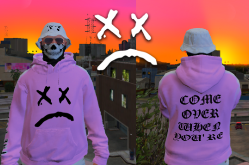 Lil Peep Pink Hoodie for MP Male