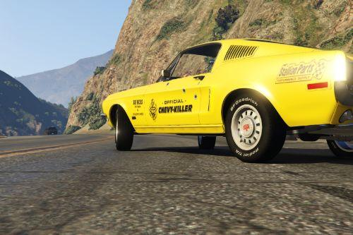 Lillegul livery for 1968 Mustang Fastback