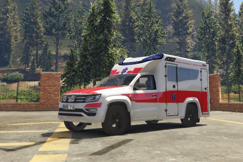 Lithuania 2017 Volkswagen Amarok Tamlans Ambulance Livery | ELS