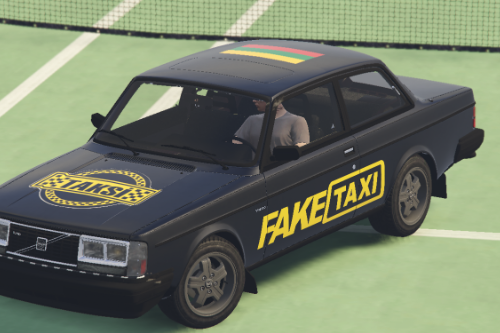 Lithuanian 1983 Volvo 242 Turbo Fake taxi livery.