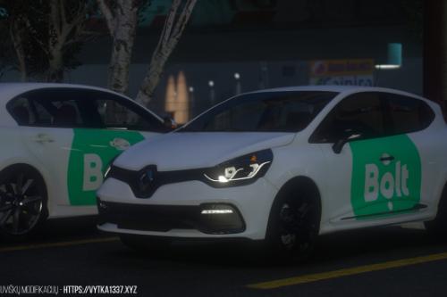 """Lithuanian """"Bolt"""" liveries for Lexus GS 350 & Renault Clio RS"""