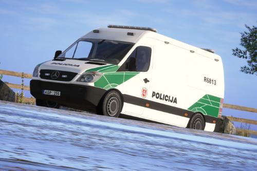 Custom Lithuanian Police Mercedes Sprinter Livery