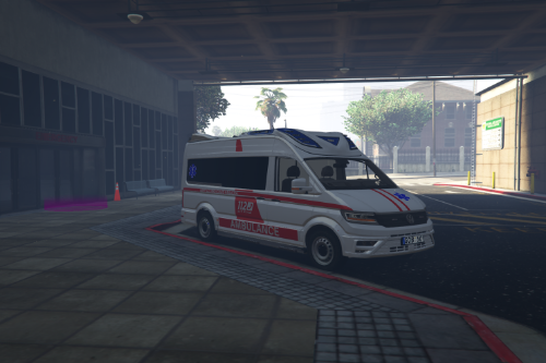 Lithuanian Custom Volswagen Crafter Ambulance Livery