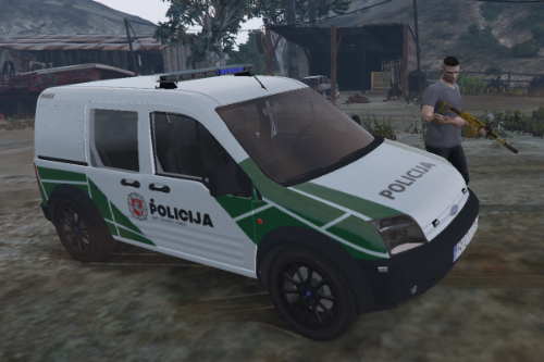 Lithuanian Ford Connect Police livery
