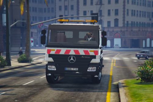 Lithuanian Mercedes Benz Actros FlatBed Tow Truck