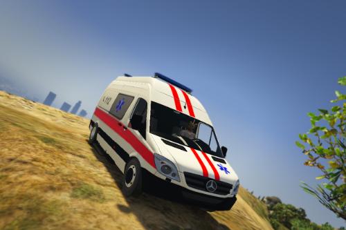 Lithuanian Mercedes Sprinter Ambulance livery.