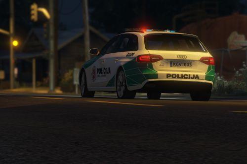 Lithuanian Police 2013 Audi S4 Avant Livery