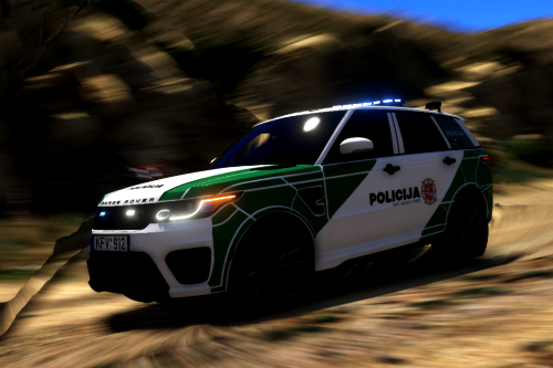 Lithuanian Police 2017 Range Rover Livery