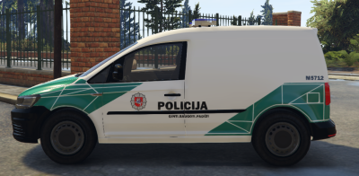 Lithuanian Police Caddy