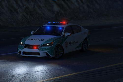 Lithuanian Police Lexus GS 350 Livery