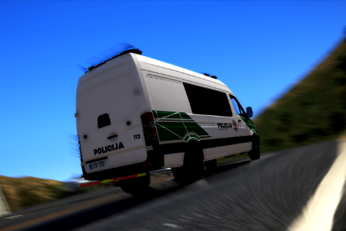 Lithuanian Police Mercedes Sprinter Livery