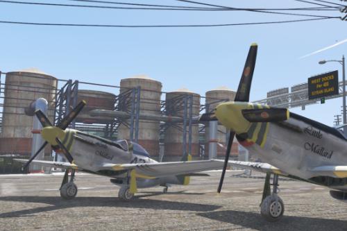 """""""Little Mallard"""" skin for P-51D Mustang"""