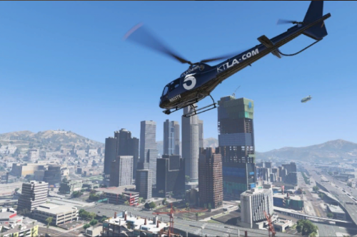 Real-Life Los Angeles News Helicopter Textures