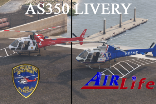 Livery AS350 EMS (Air Life) / LSFD (Air Ops)