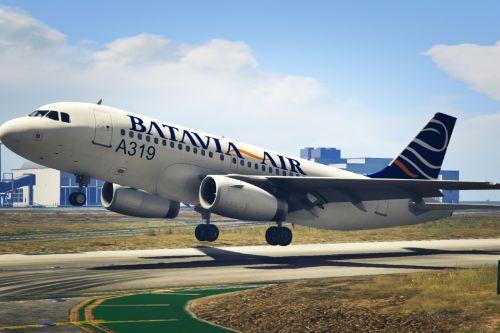 """Livery Batavia Air """"PK-YYC"""" Airbus A319"""