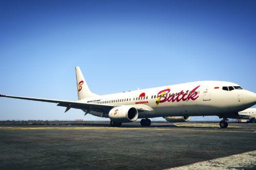 """Livery Batik Air (Albino Livery) """"PK-LZT"""" Boeing 737-800"""