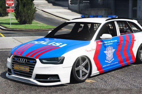Indonesian Police PJR Livery For Audi S4