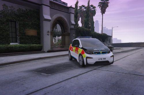 London Fire Brigade (LFB) BMW I3 Officer Car