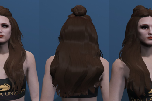 Long Bun Hair - Custom haircut for MP Female [SP / FiveM]