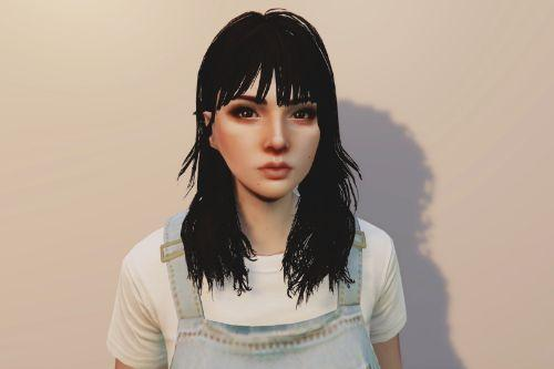 Long Haircut With Bangs For MP Female