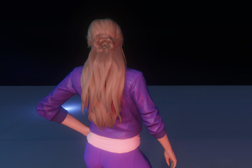 Long hairstyle with rose for MP Female