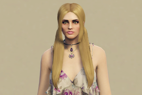 Long pigtails hairstyle for MP Female