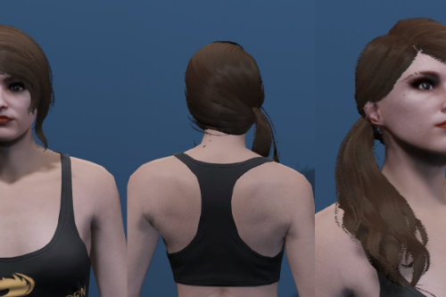 Long Ponytail Hair - Custom haircut for MP Female [SP / FiveM]