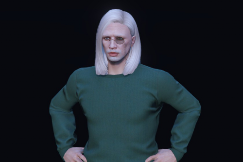 Long sleek hair for MP Male