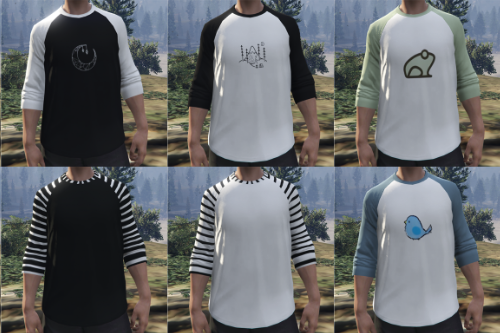 Long sleeve textures for MP Male