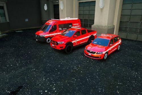 Los Angeles Fire Departament LAFD PACK [ European Cars]