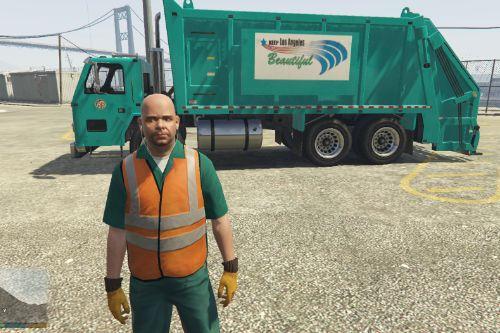 Los Angeles Real Trash Truck Skin