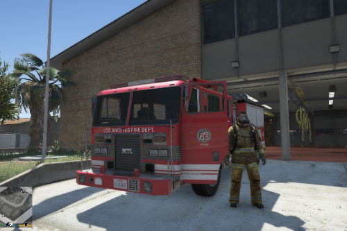 Los Angeles Realistic Fire Truck Livery