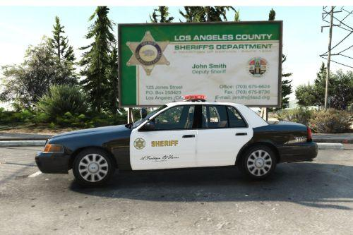 Los Angeles Sheriff Department Ford Crown Victoria Liveries