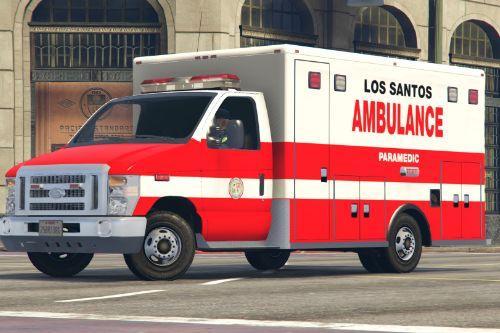 Los Santos City Ambulance Paramedic Livery Ford E450 LS (4K)
