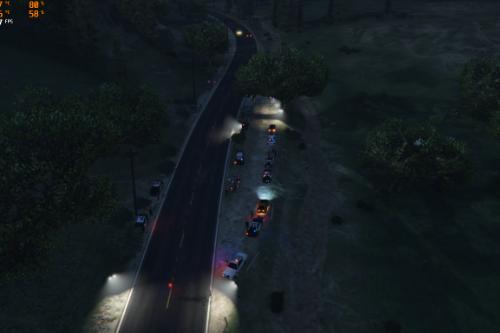 Los santos county police checkpoint
