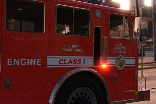 Los Santos Fire Department Engine + Firefighters