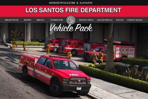 Los Santos Fire Department Vehicle Pack (LSFD and LSIAFD) [Add-On | Liveries]