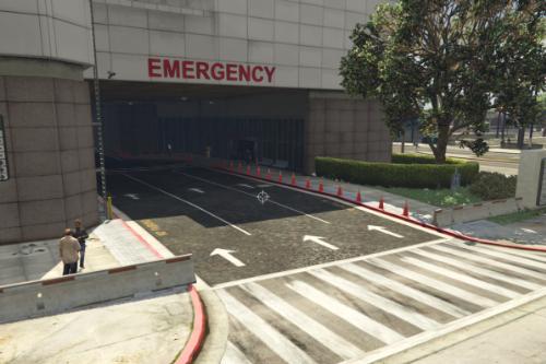 Los Santos Hospital Exterior