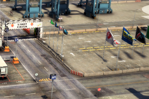 Los Santos Port Drift Race (FiveM Ready|ymap)