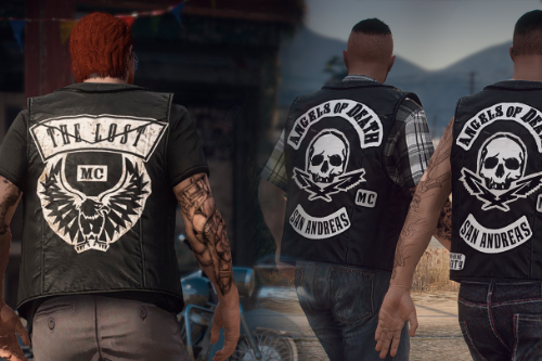 Lost MC and Angels of Death biker vests