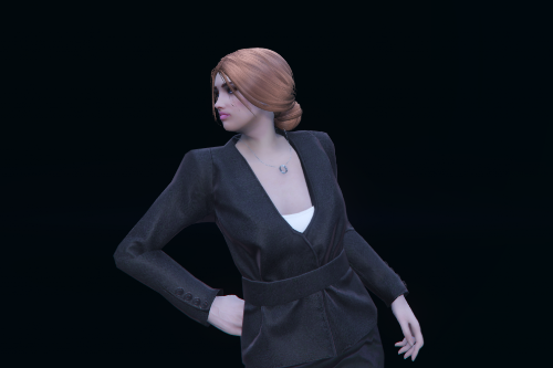 Low bun hairstyle for MP Female