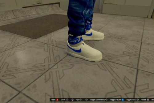 LowTop Nike Air force 1s(Blue and white)