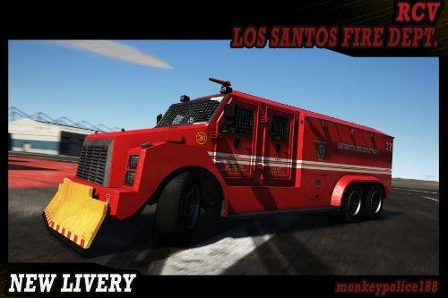 LSFD (Los Santos Fire Department) Livery for RCV [Add-On | Livery]