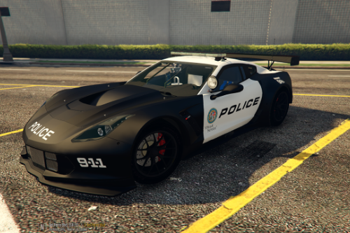 Chevrolet Corvette C7R - LSPD - POLICE [Paintjob]