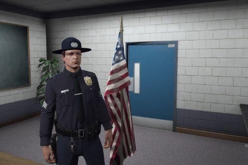 LSPD Drill Instructor Campaign Hat - EUP [Replace] [FiveM Ready]
