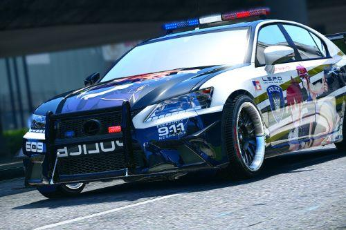 LSPD (Lewd Santos Police Department) Lexus GS350